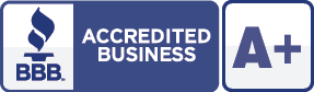 Accredited A+ with Better Business Bureau logo
