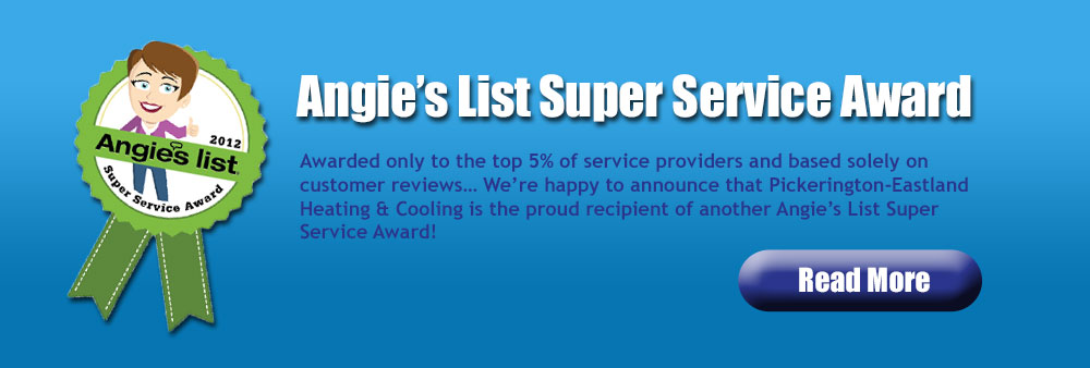 Winner of Angie's List 2012 Super Service Award