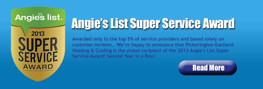 Winner of Angie's List 2013 Super Service Award