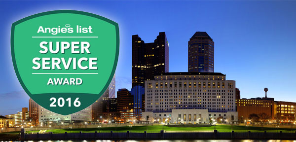 Columbus Angie's List Super Service Award 2016 HVAC