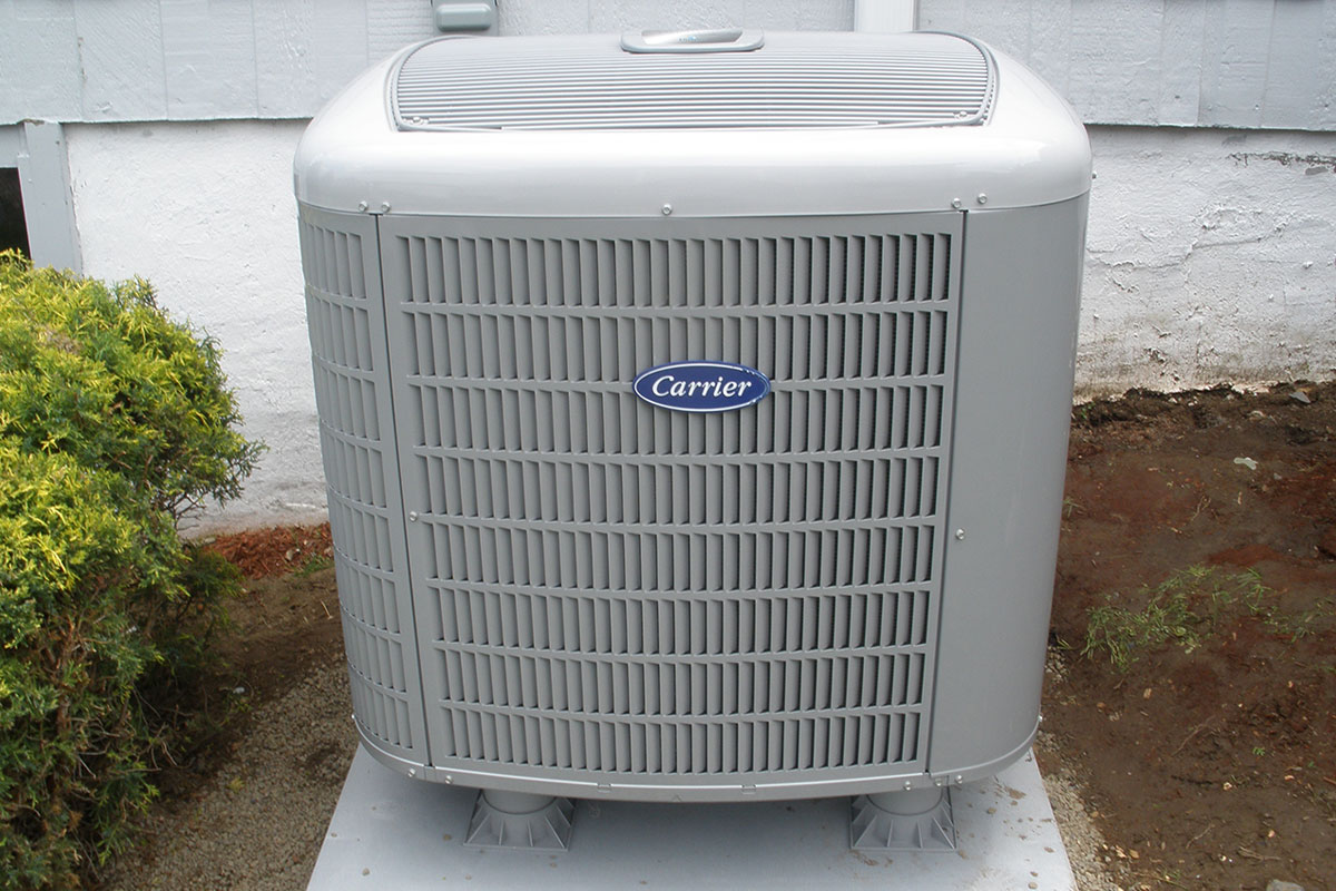 Carrier heat pump at customer's home in Westerville
