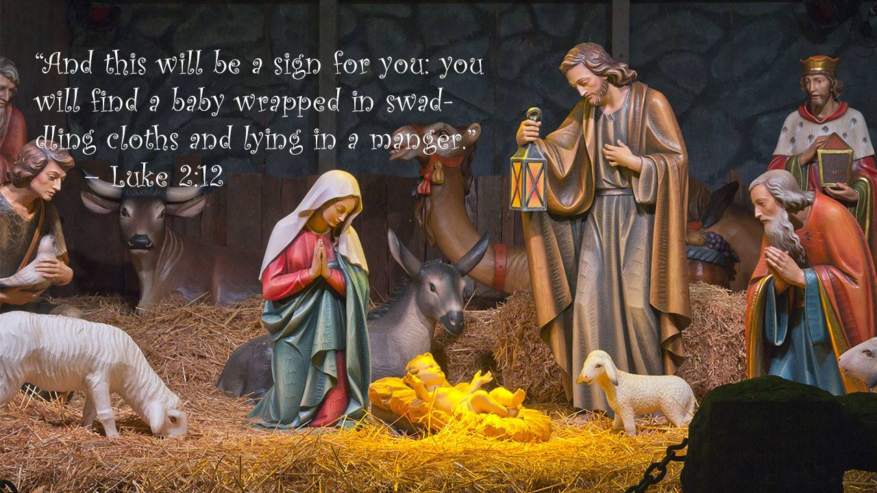 Merry Christmas 2017 - Luke 2:12