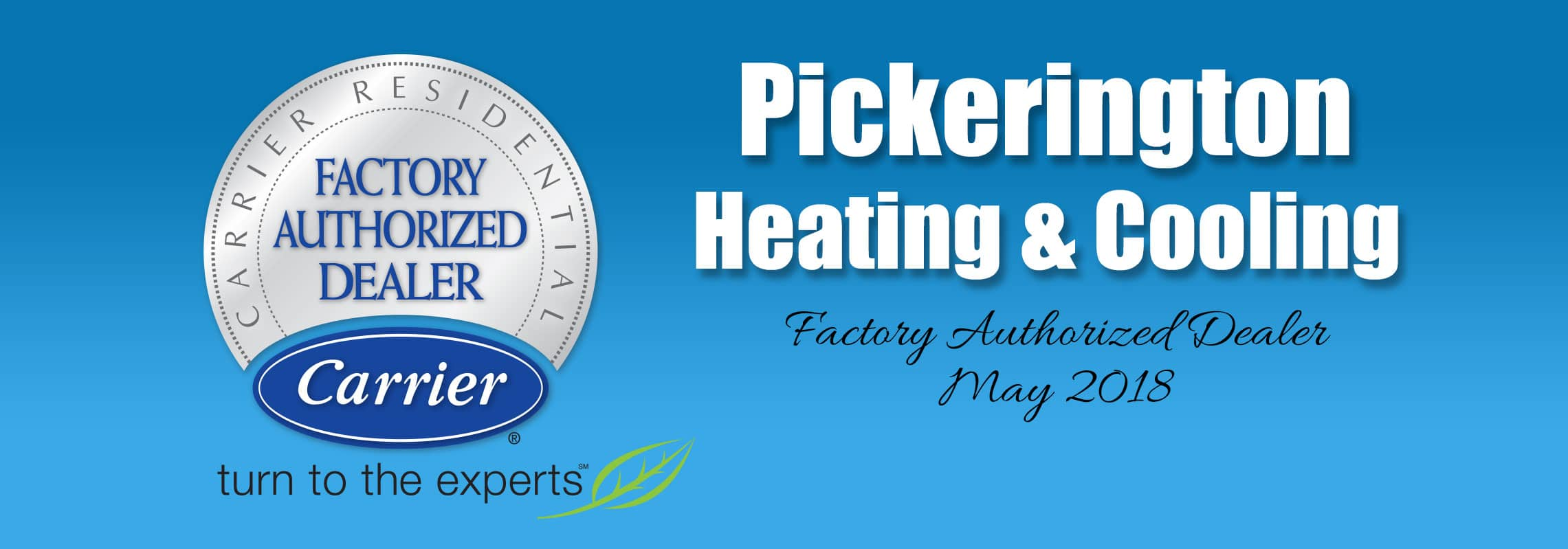Carrier Factory Authorized Dealer | Pickerington Heating & Cooling