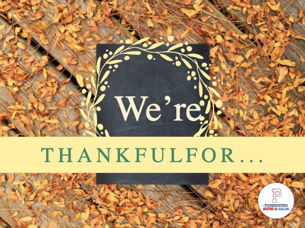 We Are Thankful For You